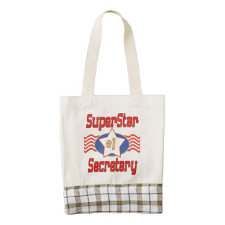 Superstar Number One Secretary Zazzle HEART Tote Bag