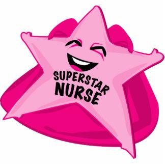 superstar nurse funny photo  sculpture! standing photo sculpture