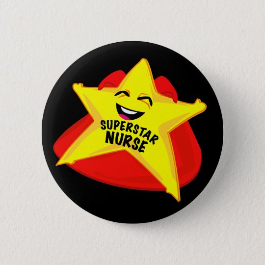 superstar nurse funny pin