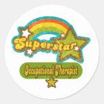 Superstar Occupational Therapist Classic Round Sticker