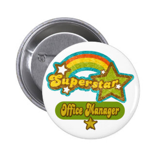Superstar Office Manager Pinback Button