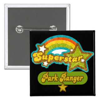 Superstar Park Ranger 2 Inch Square Button
