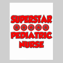 Superstar Pediatric Nurse Postcard