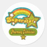 Superstar Pharmacy Technician Round Stickers
