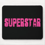 Superstar pink mouse pad