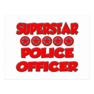 Superstar Police Officer Postcard