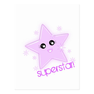 superstar! postcard