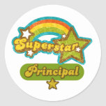 Superstar Principal Round Stickers