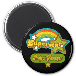 Superstar Project Manager 2 Inch Round Magnet