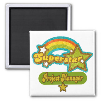 Superstar Project Manager 2 Inch Square Magnet