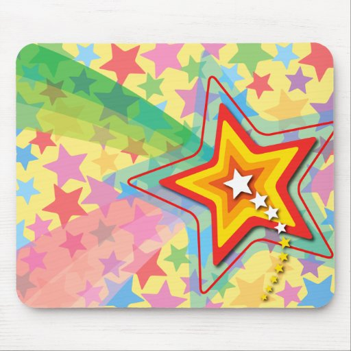 Superstar Rainbow Colorful Custom Gift Mousepad
