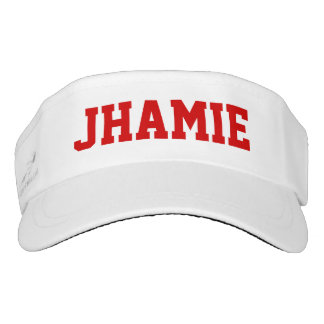 Superstar Red Personalized Visor