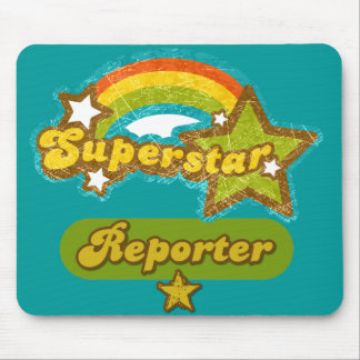 Superstar Reporter Mouse Pad