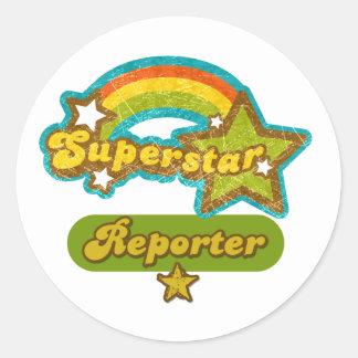Superstar Reporter Round Stickers