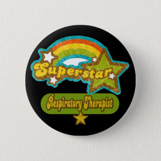 Superstar Respiratory Therapist Pinback Button