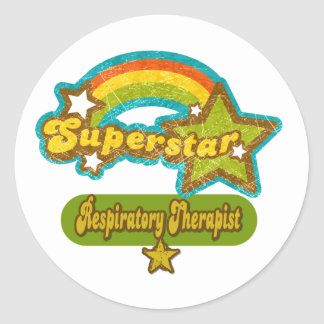 Superstar Respiratory Therapist Round Stickers