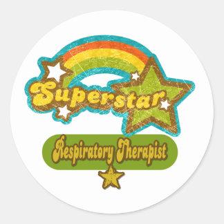 Superstar Respiratory Therapist Classic Round Sticker
