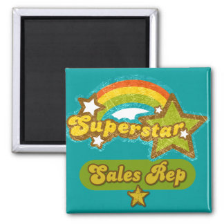 Superstar Sales Rep 2 Inch Square Magnet