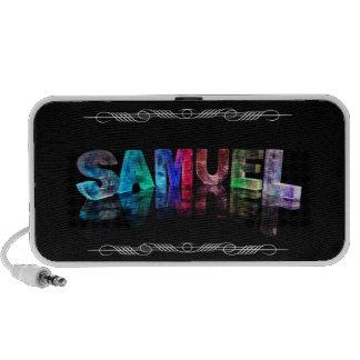Superstar Samuel -  Name in Lights (Photograph) Portable Speaker