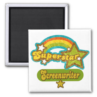 Superstar Screenwriter Fridge Magnet