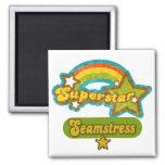 Superstar Seamstress Fridge Magnets