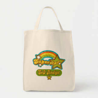 Superstar SEO Analyst Canvas Bags
