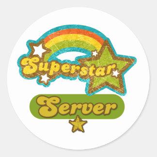 Superstar Server Classic Round Sticker