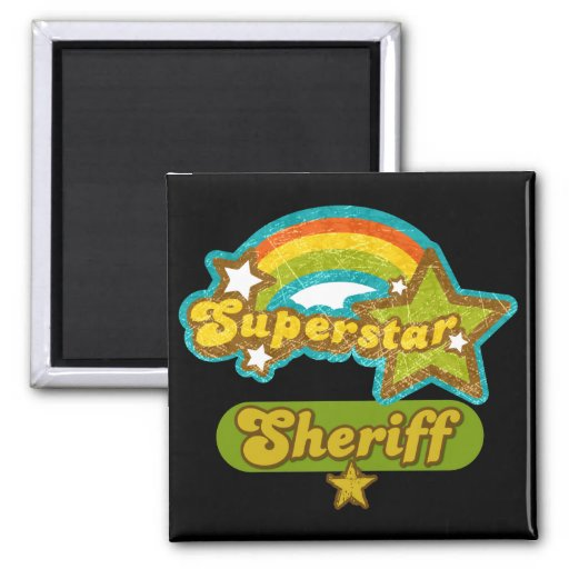 Superstar Sheriff 2 Inch Square Magnet