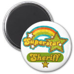 Superstar Sheriff Refrigerator Magnets