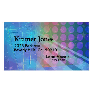 Superstar Singing Sensation In Blue Business Card