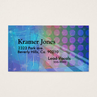 Superstar Singing Sensation In Blue Business Card