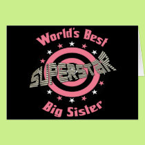 Superstar Sister in Pink Card