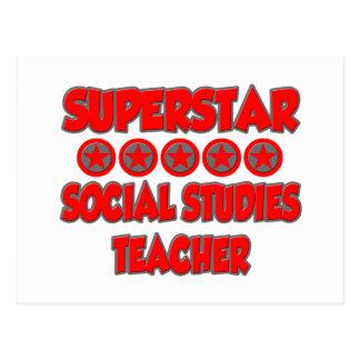 Superstar Social Studies Teacher Postcard