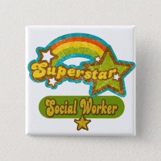 Superstar Social Worker Pinback Button