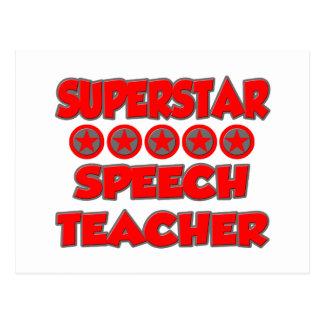 Superstar Speech Teacher Postcard