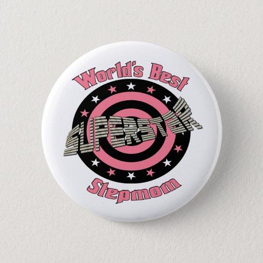 Superstar Stepmom in Pink Pinback Button