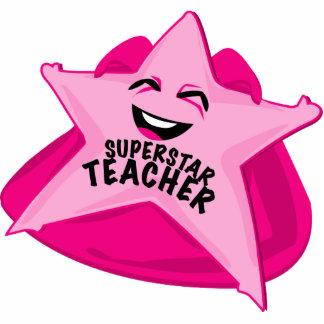 superstar teacher funny photo  sculpture! standing photo sculpture