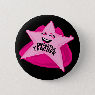 superstar teacher funny pin