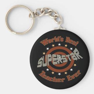 Superstar Teacher Keychain