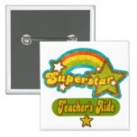 Superstar Teacher's Aide 2 Inch Square Button