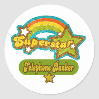 Superstar Telephone Banker Stickers
