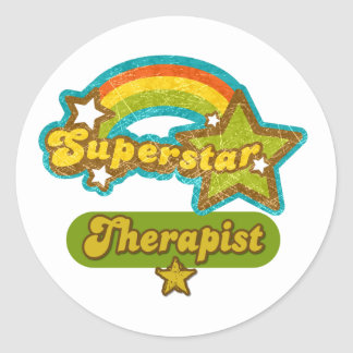 Superstar Therapist Classic Round Sticker