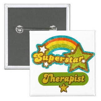 Superstar Therapist Pinback Buttons
