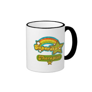 Superstar Therapist Ringer Coffee Mug