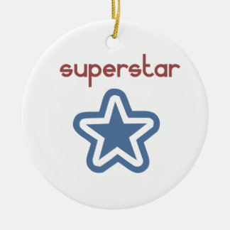 SUPERSTAR (two sided) Ceramic Ornament