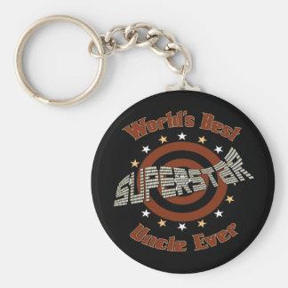Superstar Uncle Basic Round Button Keychain