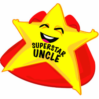 superstar uncle funny father's day  sculpture! standing photo sculpture