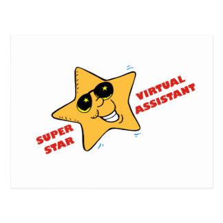 superstar VA Postcard