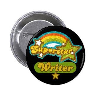 Superstar Writer Pinback Button