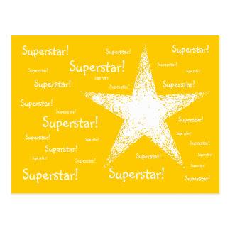 Superstar!   Yellow Postcard